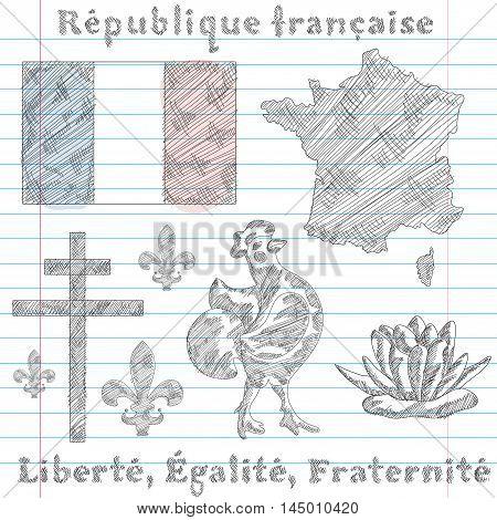 Symbols Of French Republic, Sketch