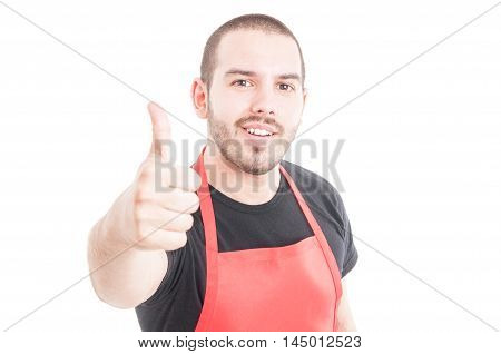 Portrait Of Joyful Hypermarket Seller