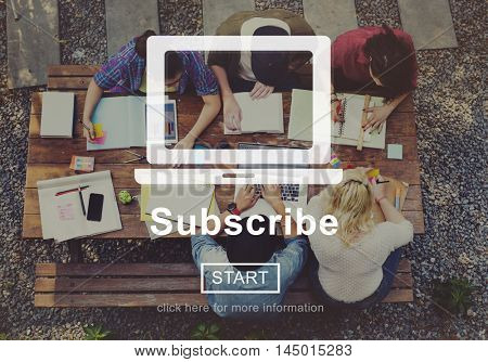 Subscribe Advertising Marketing Membership Concept