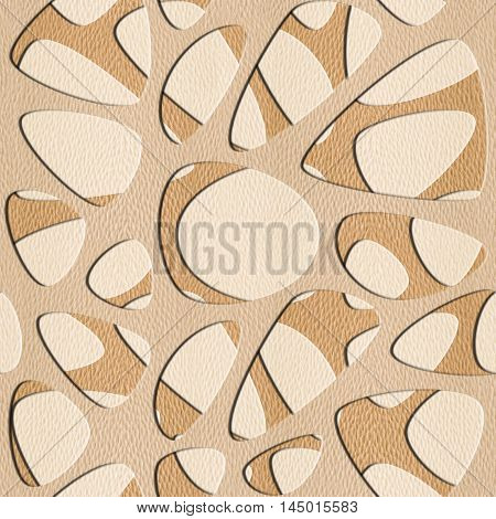 Abstract pattern synapse - seamless background - White Oak wood texture