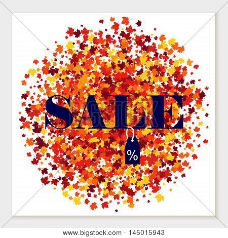 Autumn colors vector sale banner of scattered maple leaves.