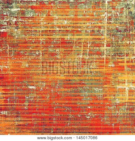 Vintage decorative texture with grunge design elements and different color patterns: gray; green; red (orange); yellow (beige); brown; pink