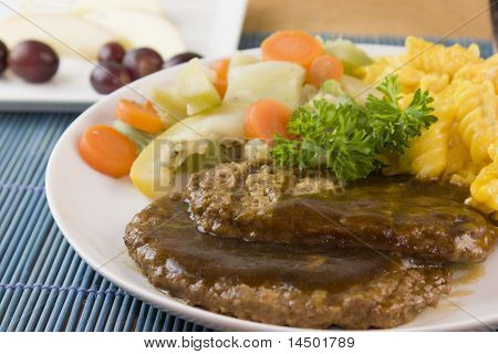 salisbury steak detail