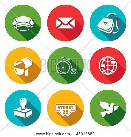 Cap, Envelope, Bag, Mailbox Bicycle Globe Stamp Address label Bird