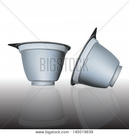packing cup with lid 3d render vector