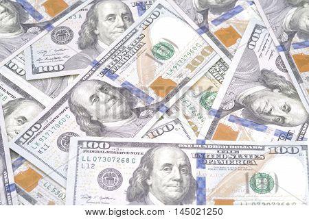 Close up image of dollar bills money background