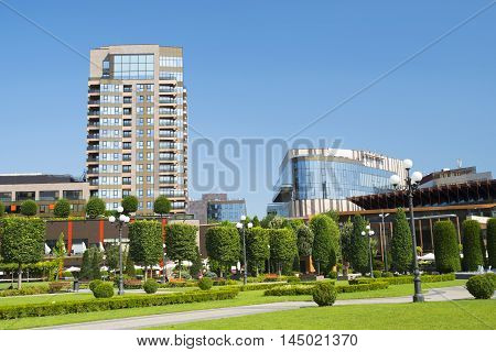 Corporate office buildings and modern business park
