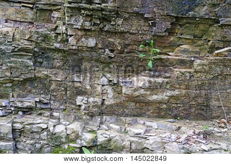 Mountain rock details as cracked surface texture