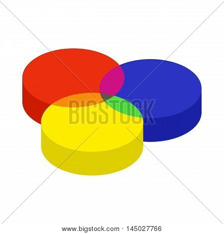 RGB color profile icon in cartoon style isolated on white background. Paint symbol