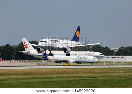 Lufthansa Airbus A319 Airplane Munich Airport