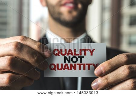 Quality not Quantity