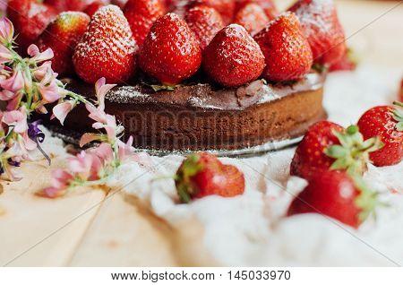 Strawberry Tart, Strawberry Shortcake, Strawberry Jam. Serving H