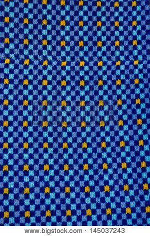 Fabric Blue Square Eye Catching Pattern Texture