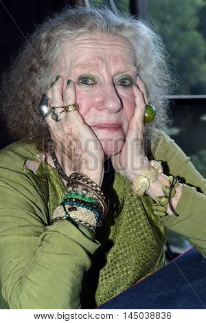 POUND RIDGE NEW YORK-AUG. 15: Famous Time-Life photographer LIsl Steiner is seen relaxing at home in Pound Ridge N.Y. on Aurgust 15th2016.