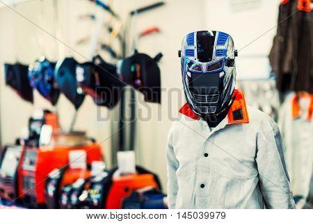 Protective industrial workwear, toned image, horizontal image