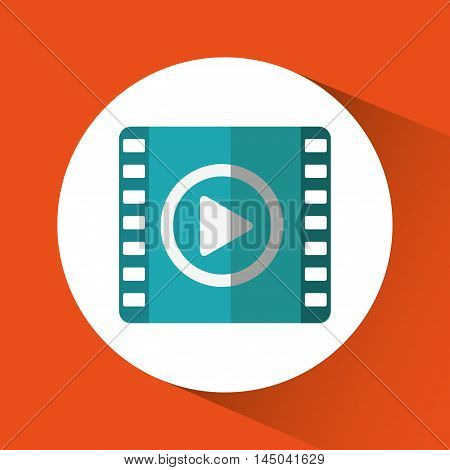 movie play film cinema media con. Colorful circle and flat design. Vector illustration