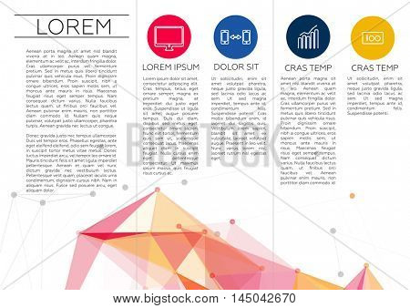 Trifold Brochure Template Design in DL Size | EPS10 Vector