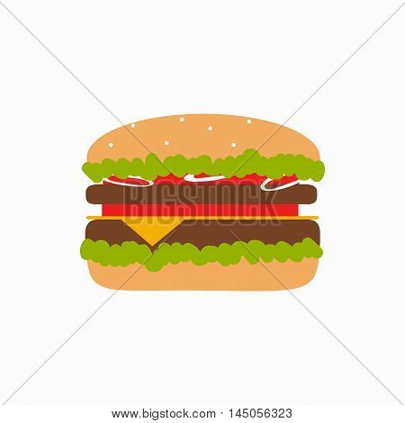 Fast food background concept. Vector fast food meal illustration. Concept of flat fast food icons. Colorful fast food vector concept  for your design. Fast food elements isolated.