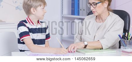 Receiving A Helping Hand With His Homework