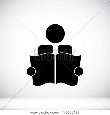 Book Reader Sign Icon