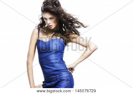Fashionable Young Model Posing With Trendy Clothes