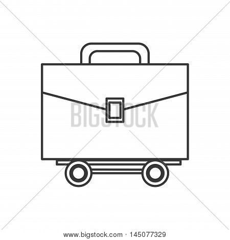 suitcase wheel bag business travel proffesional icon. Flat and isolated design. Vector illustration