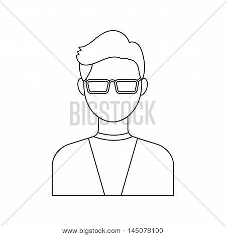 Man with glasses icon line. Single avatar, peopleicon from the big avatar line.