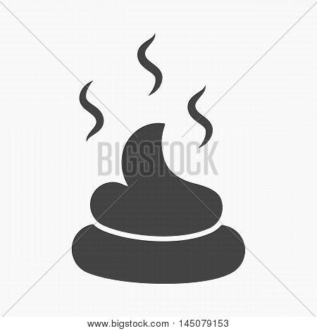 Faeces vector illustration icon in black design