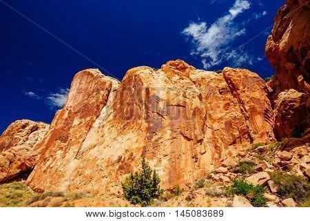 Grand Wash Trail, Capital Reef National Park, Utah, Usa