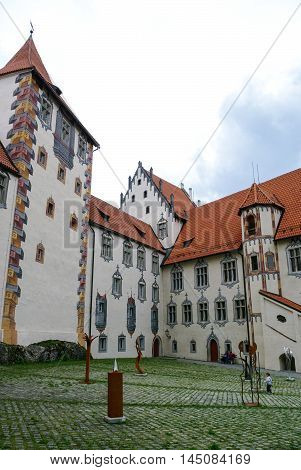Hohes Schloss, Medieval Castle In The Middle Of Fussen Old Town, Bavarian Alps, Germany