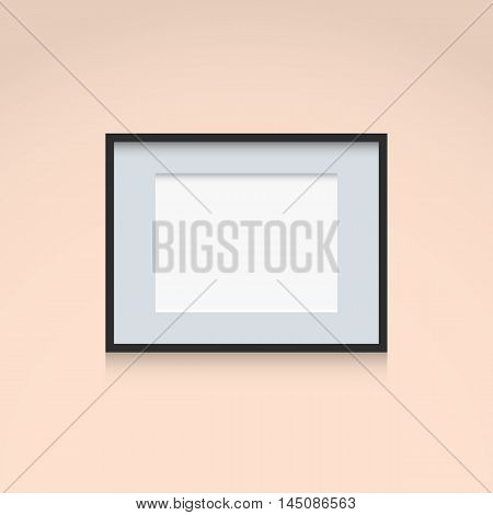 Photo Frame Interior Decoration Template Horizontal Orientation