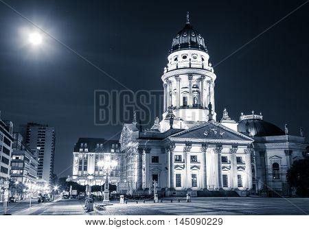 German cathedral Gendarmenmarkt at night - Berlin