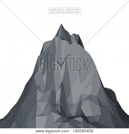 Low Poly Mountain Vector Background | EPS10 Design