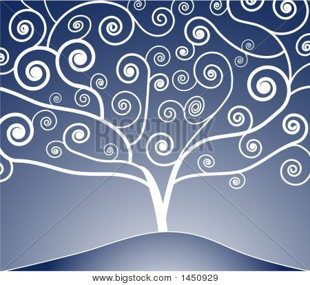 Curled Tree2Blue