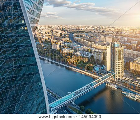 Aerial View Of Moscow City