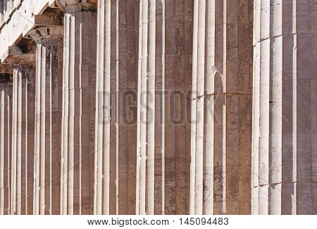 Doric Colonnade Of The Parthenon