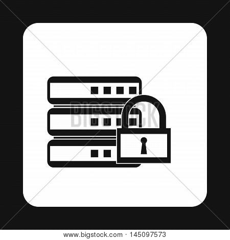 Data retention protection icon in simple style isolated on white background. Security symbol