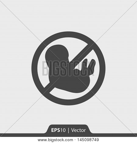 Abortion Stop Vector Icon For Web And Mobile