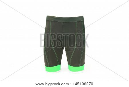 a bike shorts with a chamois pad for comfortable riding in green color