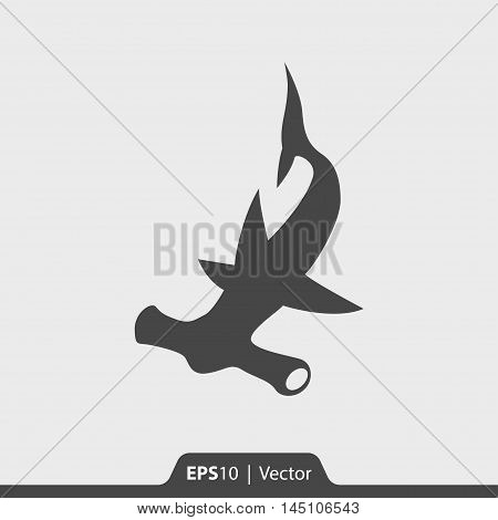 Hammerhead Shark Vector Icon For Web And Mobile