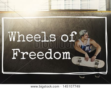 Wheels Freedom Independence Peace Emancipated Concept