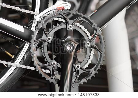 Front crank for road bicycle / Bicycle spare part and maintenance concept