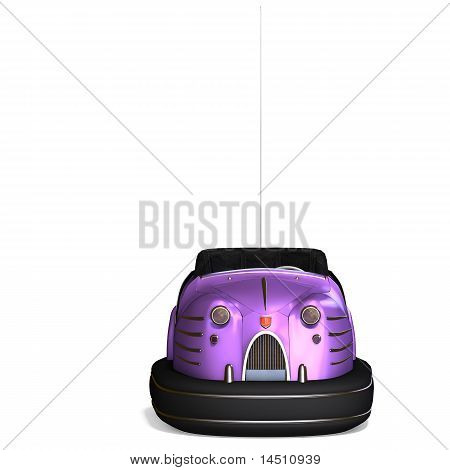 a colorful bumper car from the amusement park