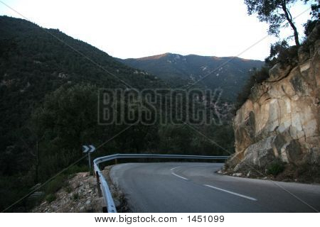 Mountain Road In Spain