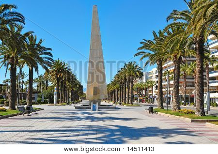A view of Passeig Jaume I in Salou Spain poster