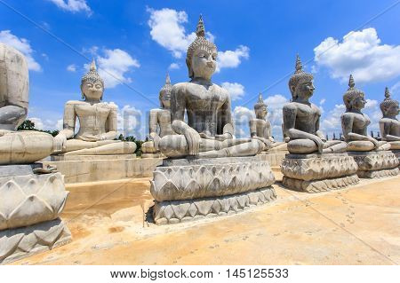 Buddha statue and blue sky Nakhon Si Thammarat Province Thailand