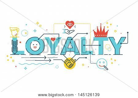 Loyalty Word Lettering