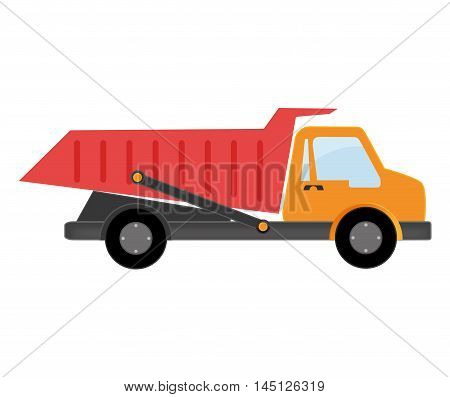 truck dumping dump construction isolated vector illustration eps 10