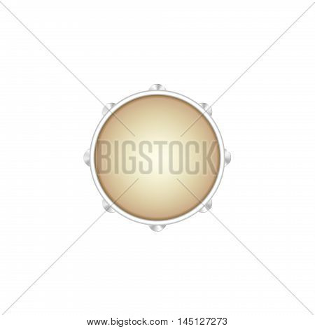 Tambourine musical instrument isolated on white background
