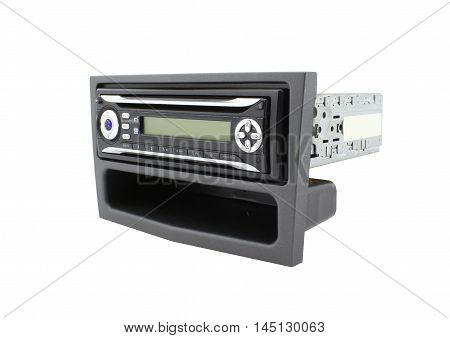 Radio CD player 1DIN, mounted in frame